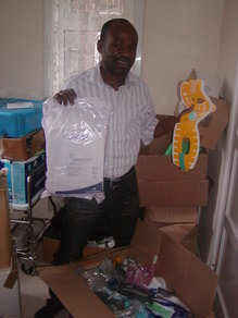 Programme Director Showing emergency medical items
