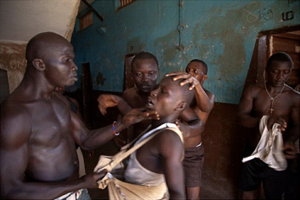Photograph by Fernando Moleres of the treatment of children in Pademba Road Central Prison, Freetown, Sierra Leone. Fernando is an award-wining international photographer who supports our work.